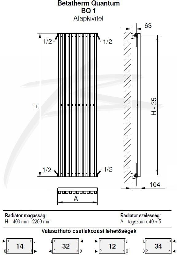 Дизайн радиатор BQ Quantum
