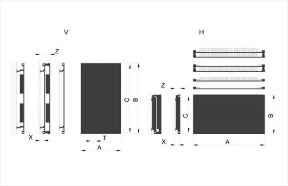 Дизайн радиатор Focus размеры