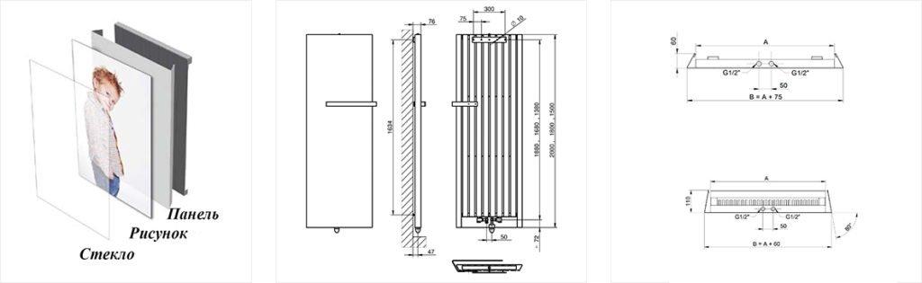 Дизайн радиатор Matrix размеры