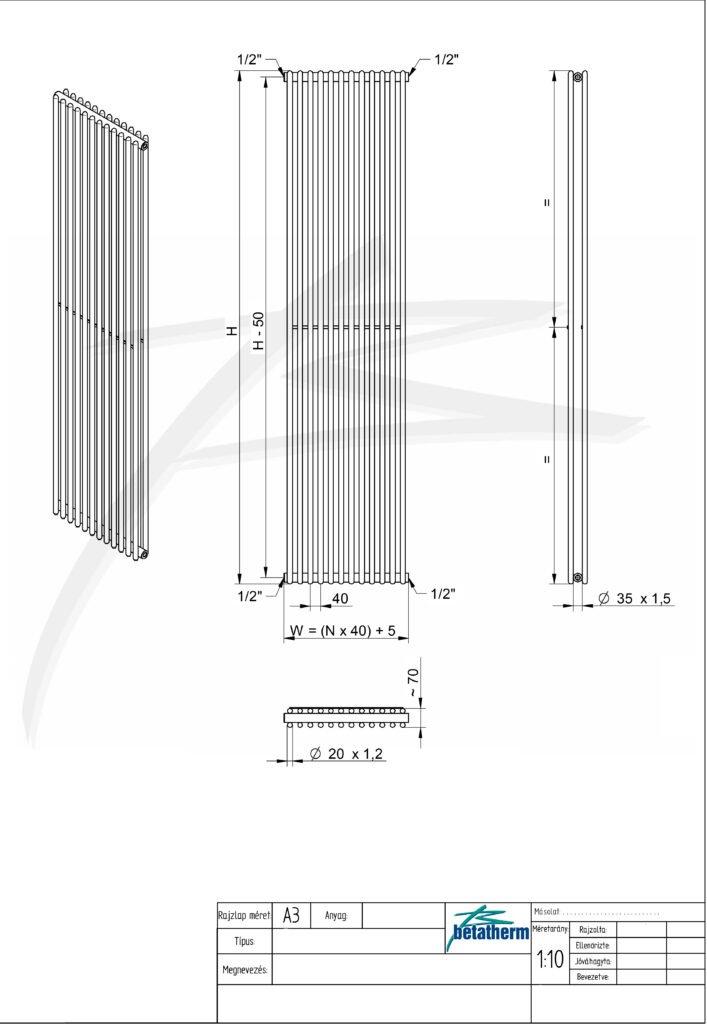 Дизайн радиатор Narrow