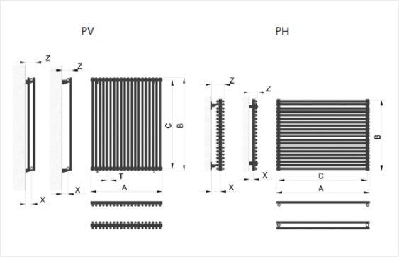 Дизайн радиатор Praktikum размеры