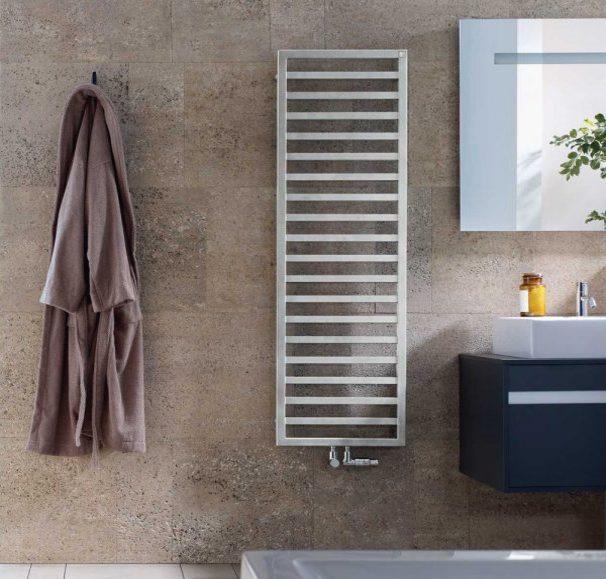 Стильное тепло ванной комнаты